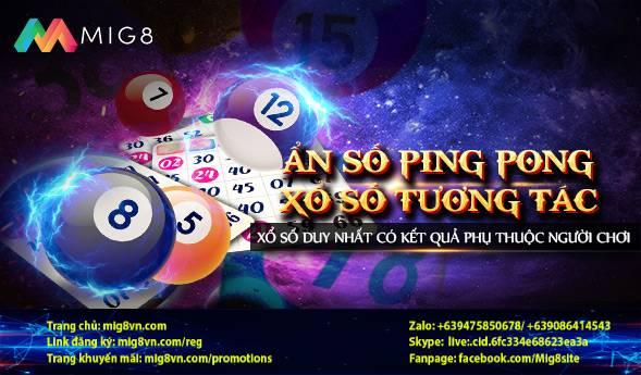 Xổ số PING PONG tại MIG8