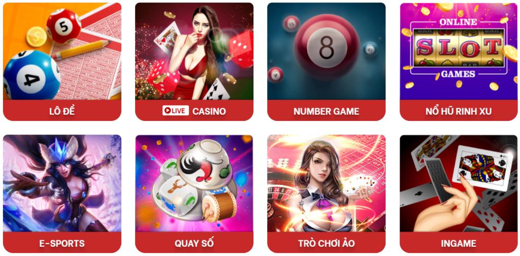 Các trò chơi tại RED88