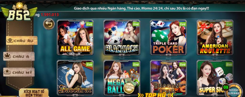 Casino tại B52