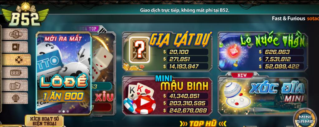 Mini game tại B52
