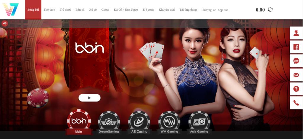 Sảnh casino tại V7