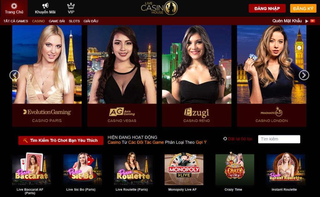 Casino tại Live Casino House