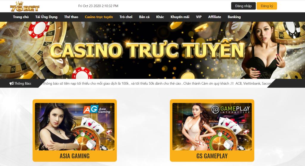 Casino trực tuyến tại 7GBET