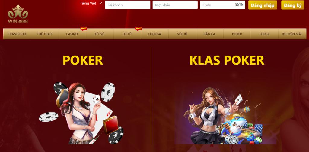 Poker tại WIN3888