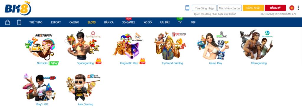 Slot game tại BK8