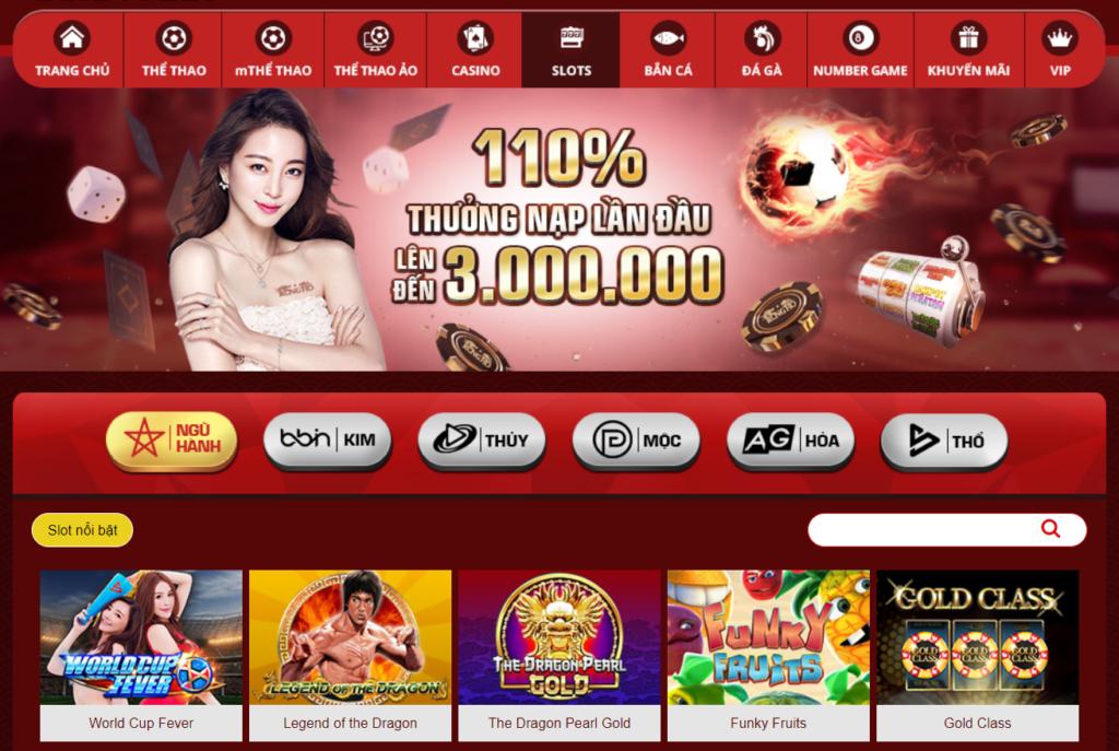 Slot game tại Rồng Hổ