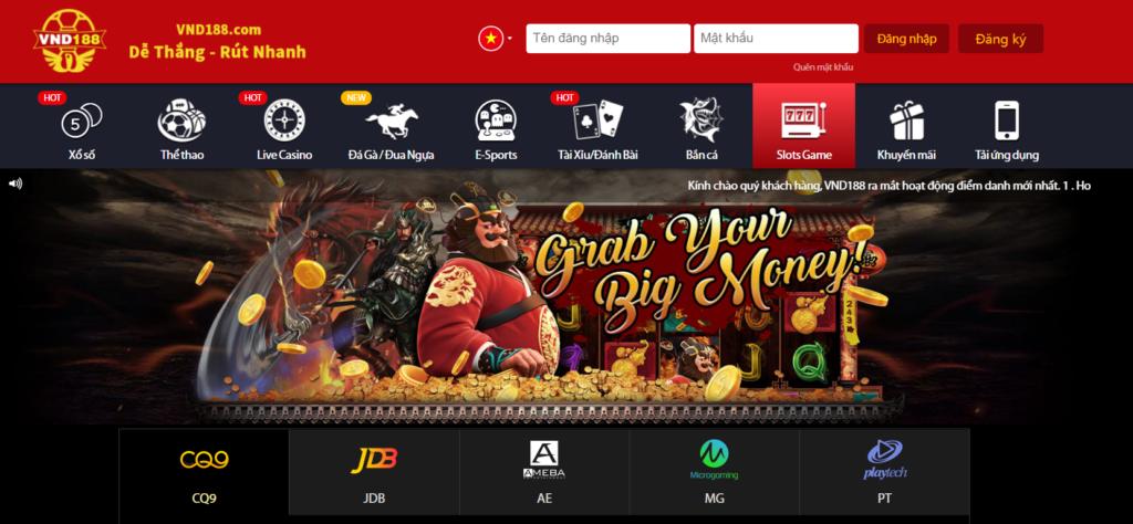 Slot game tại VND188