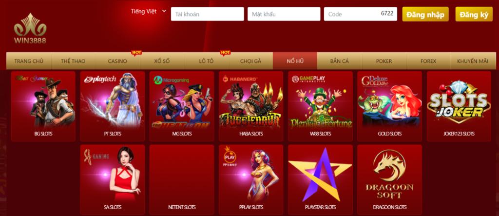 Slot Game tại WIN3888