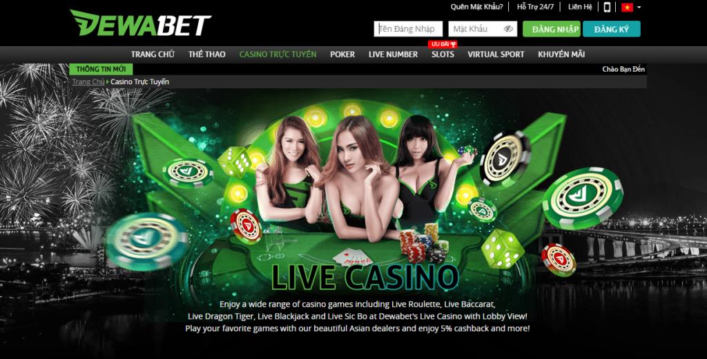 Casino tại DEWABET