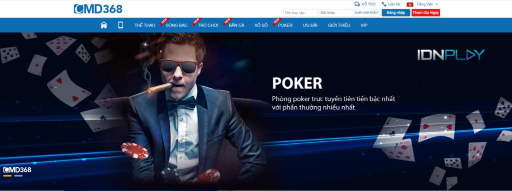 Poker tại CMD368