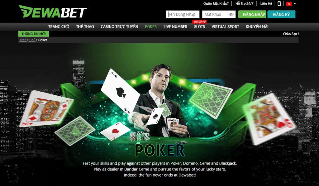 Poker tại DEWABET