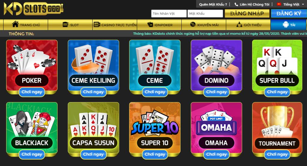 Poker tại LDslots