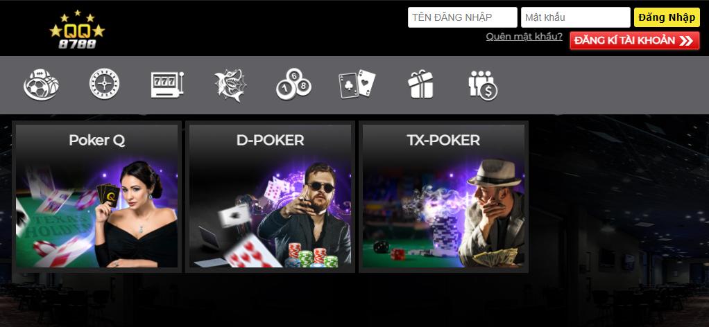 Poker tại QQ8788