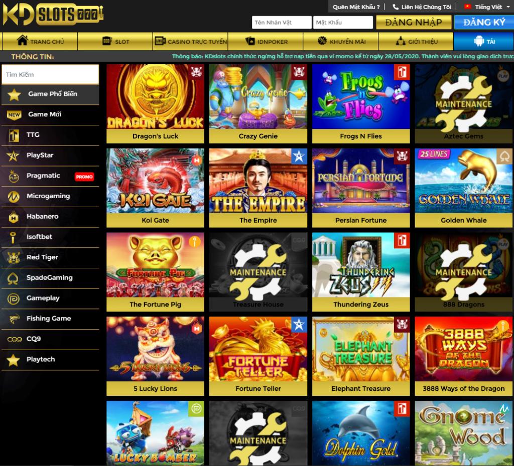 Slot game tại KDslots
