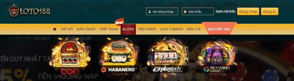 Slot game tại LOTO188