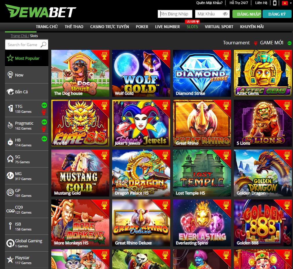 Slot game tại DEWABET