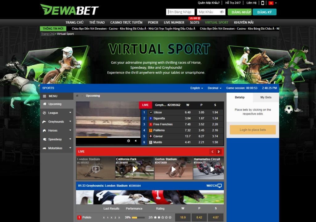 Virtual Sport tại DEWABET