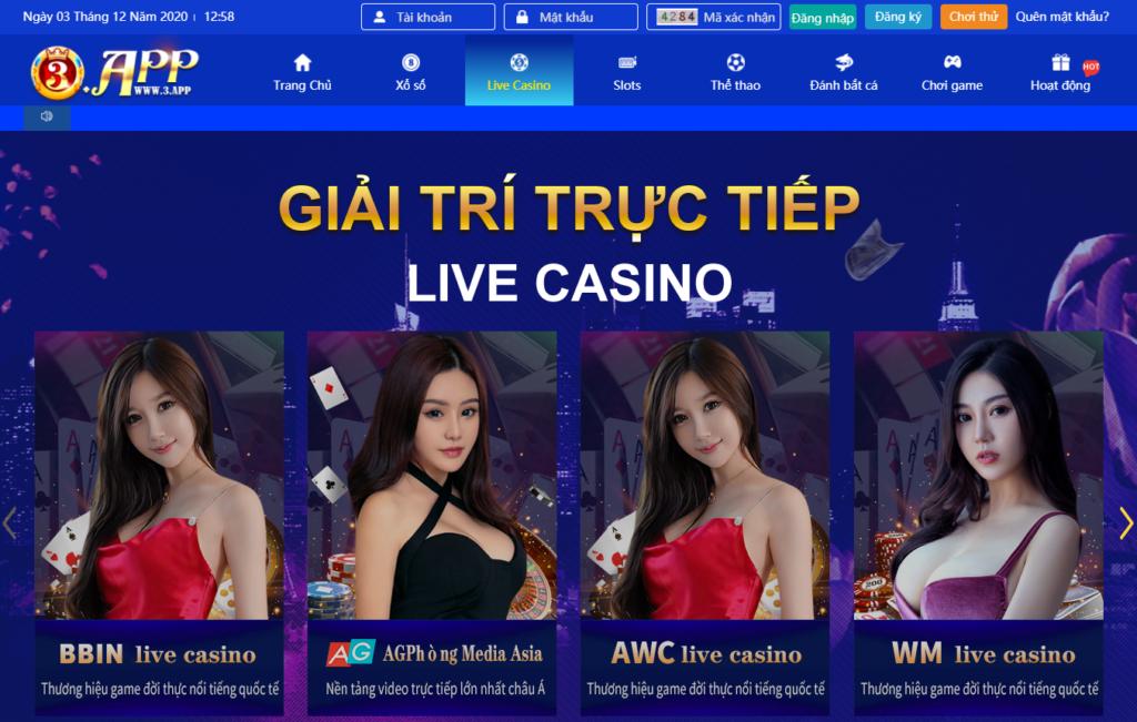 Casino tại 3APP