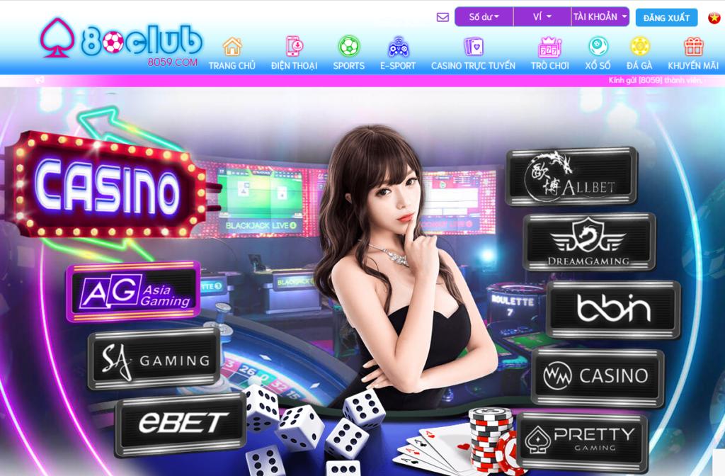 Casino tại 80CLUB