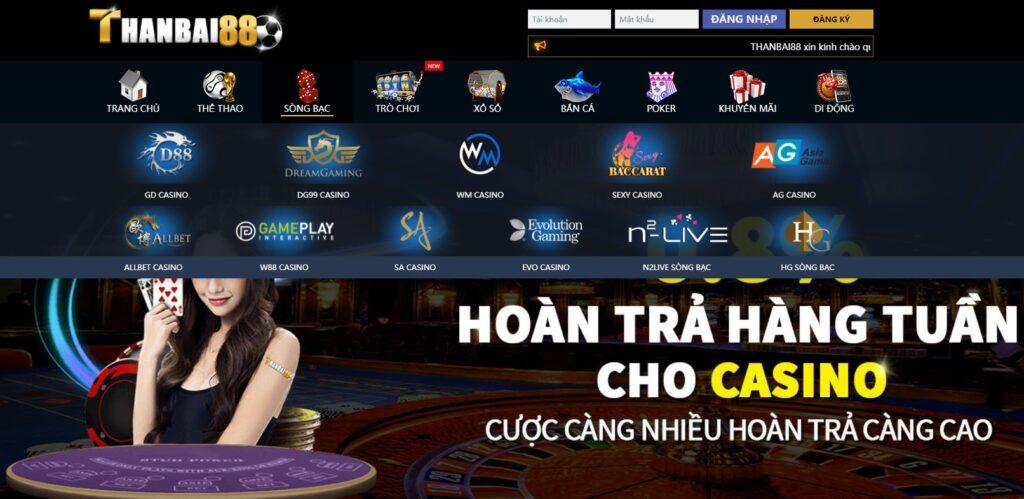 Casino tại THANBAI88