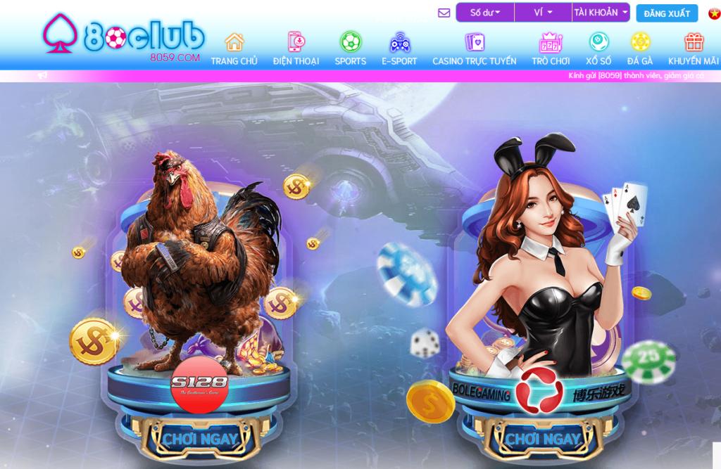 Đá gà tại 80CLUB