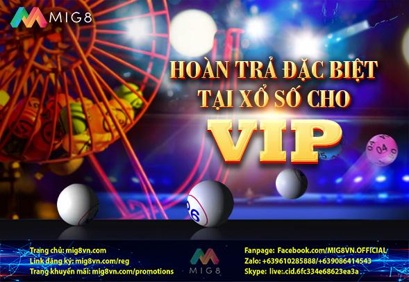 Hoàn trả Xổ số nhanh cho VIP MIG8