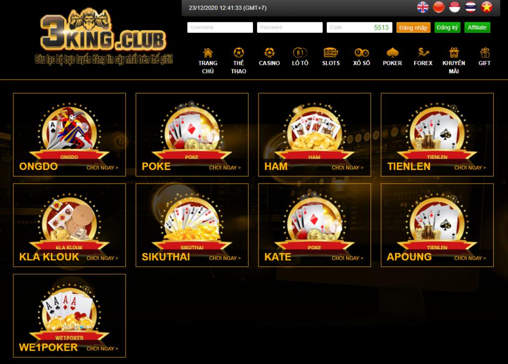 Poker tại 3KING CLUB