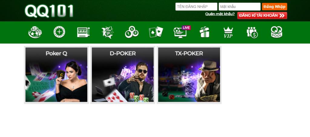 Poker tại QQ101