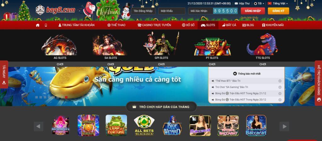 Slot game tại BOG8