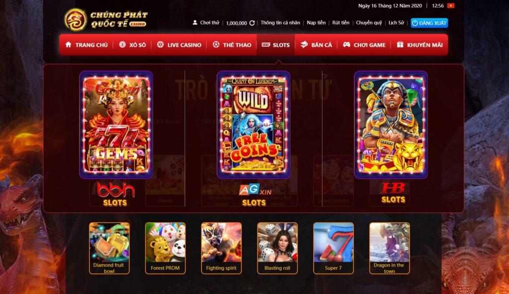 Slot game tại Chúng Phát