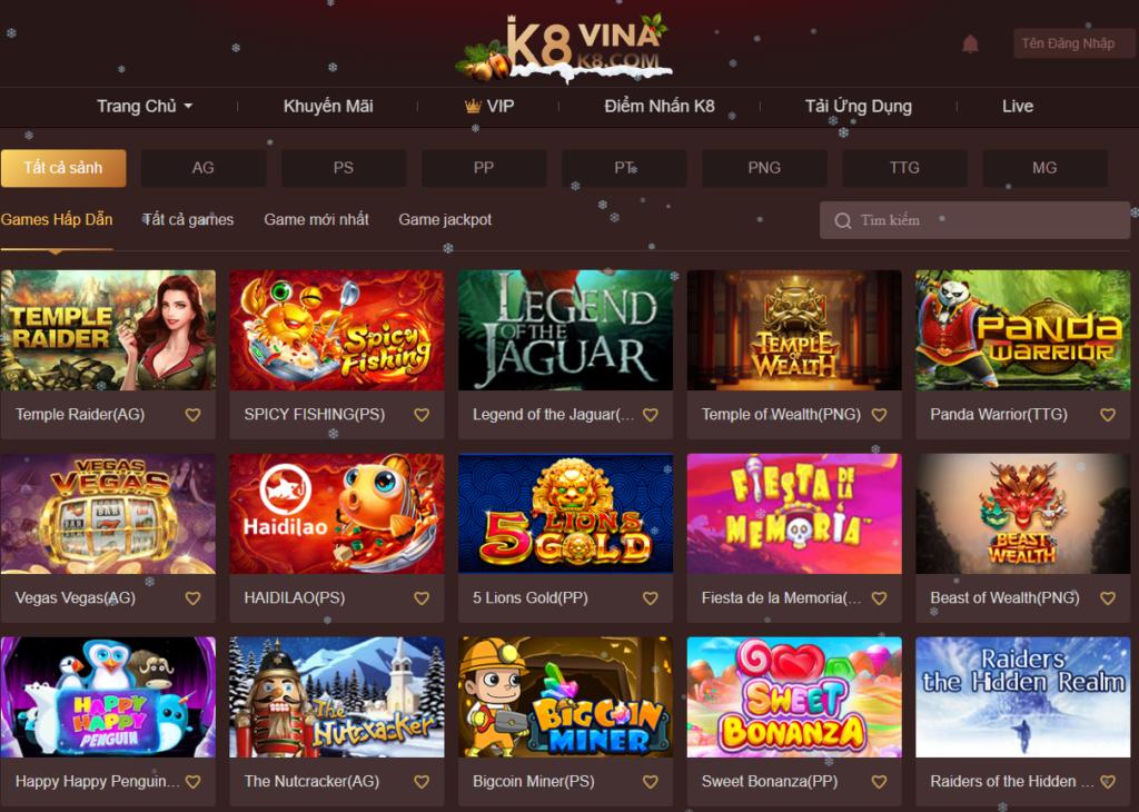 Slot game tại K8