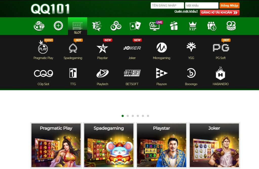 Slot game tại QQ101