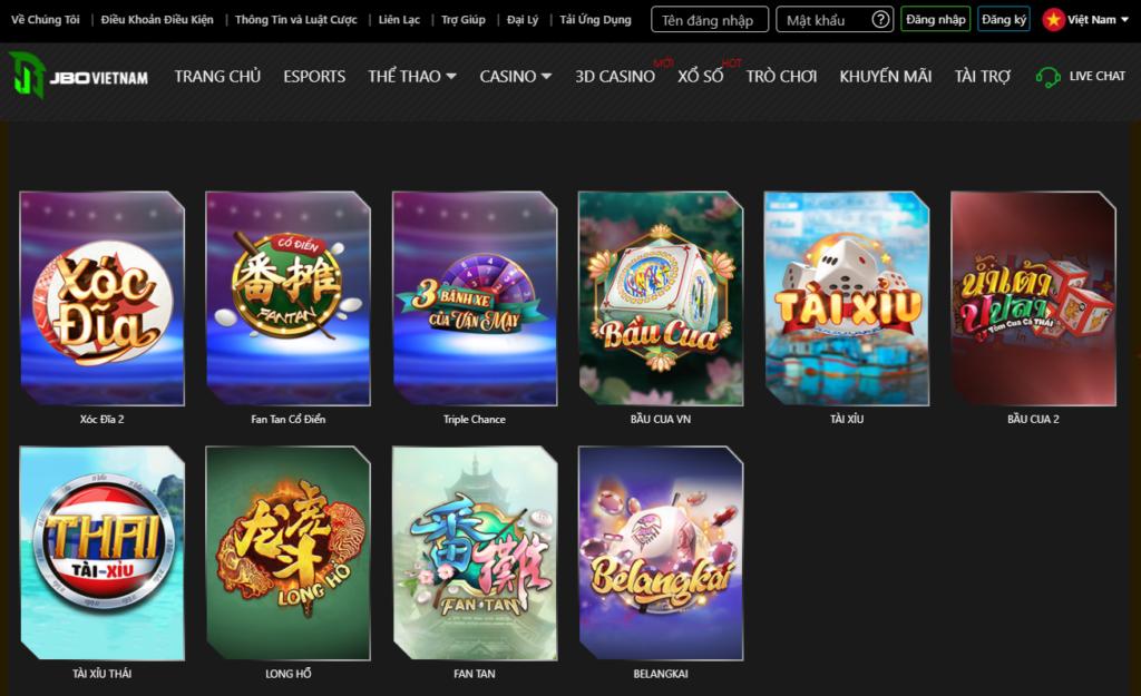 3D Casino tại JBO