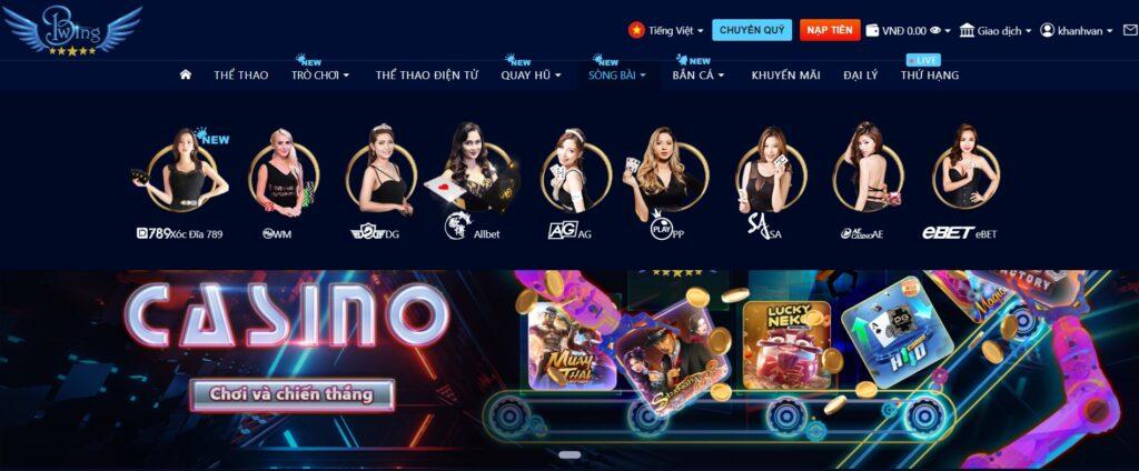 Casino tại Bwing