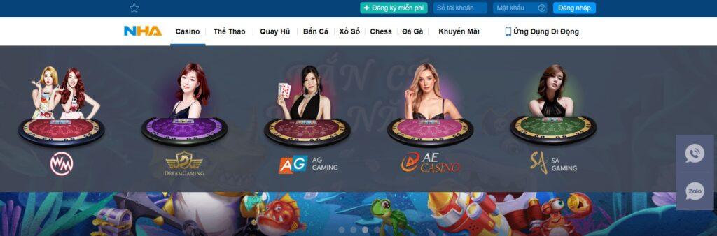 Casino tại NHA