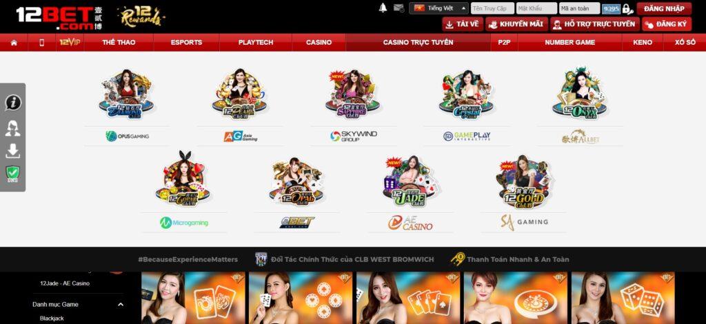 Casino trực tuyến tại 12BET