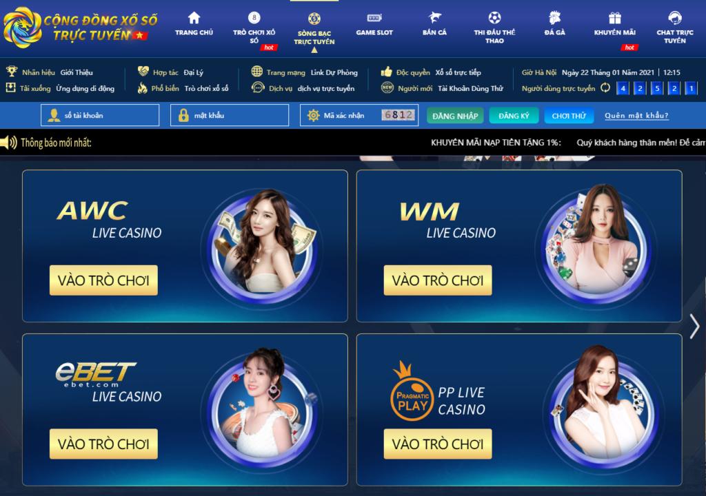 Casino trực tuyến tại Cộng Đồng Xổ Số (CDXS)