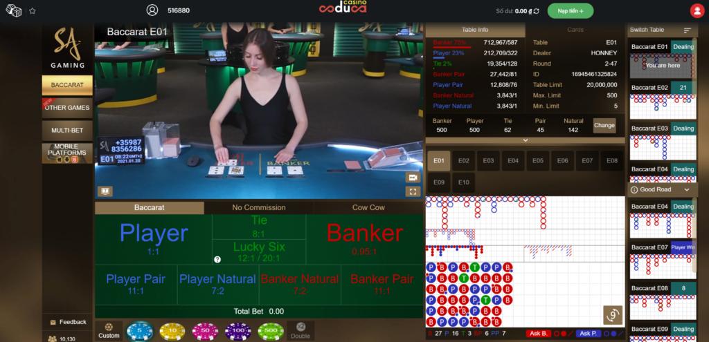 Casino trực tuyến tại Coduca88