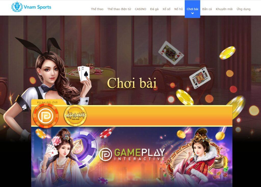 Chơi bài tại Vnam Sports