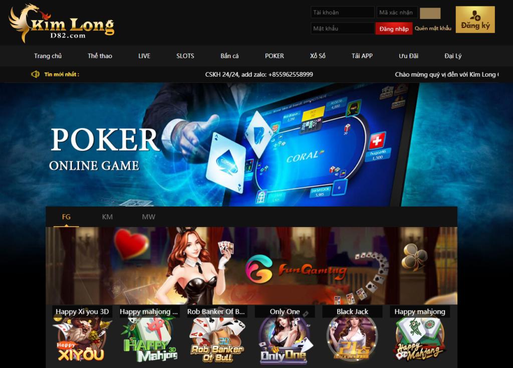 Poker tại Kim Long