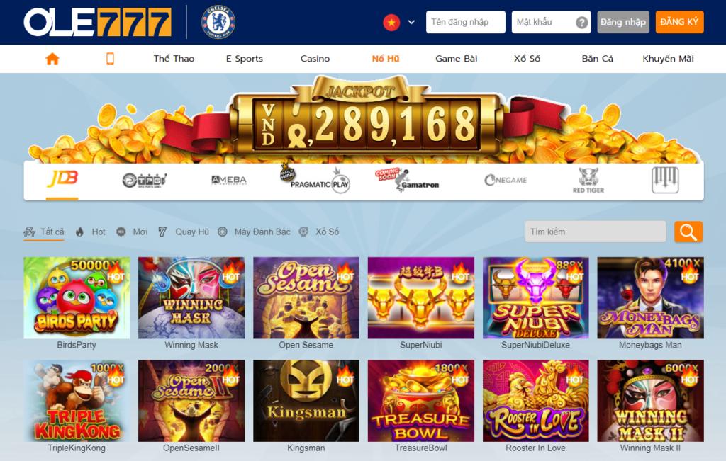 Slot game tại OLE777