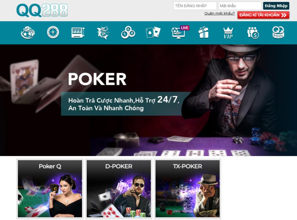 Poker tại nhà cái QQ288