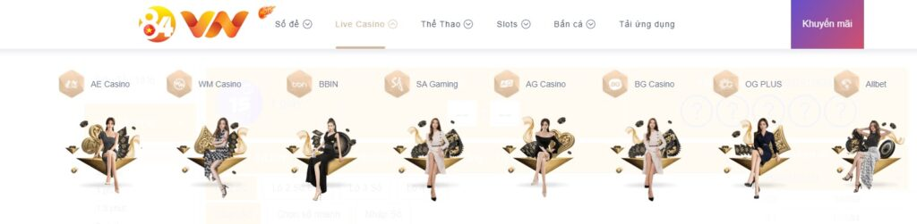 Live Casino tại 84VN