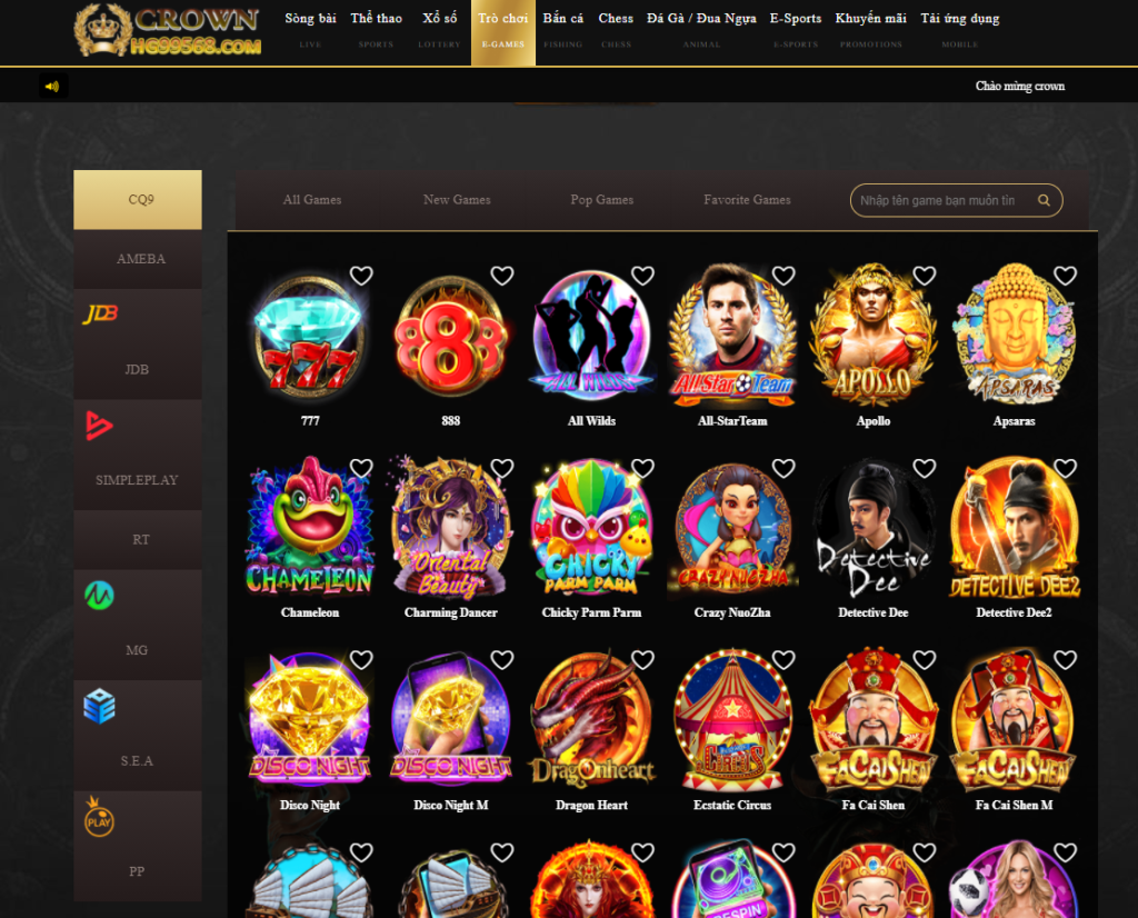 Slot game tại Crown