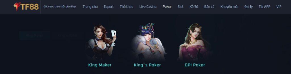 Poker tại TF88