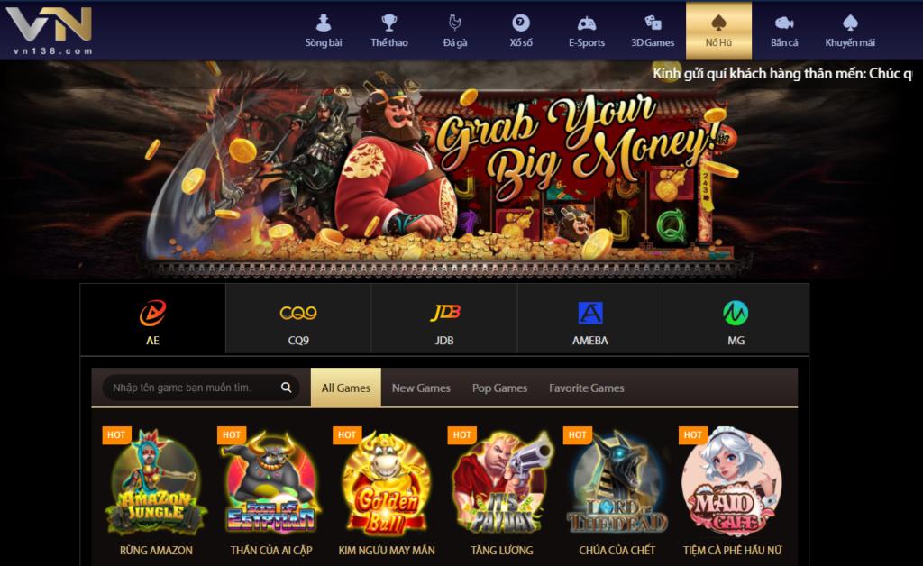 Slot games tại VN138